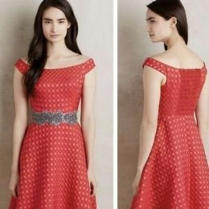 Moulinette Soeurs Red Minette Dress Size 8